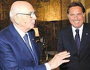 Antonio Manganelli con Giorgio Napolitano