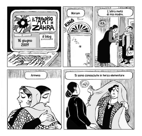 La cronaca dei fatti in Iran si diffonde via internet: dalle 18 di venerdì 19 febbraio è online il sito Zahrasparadise.com, una graphic novel sull'attualità iraniana