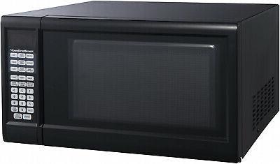 black stainless steel countertop microwave