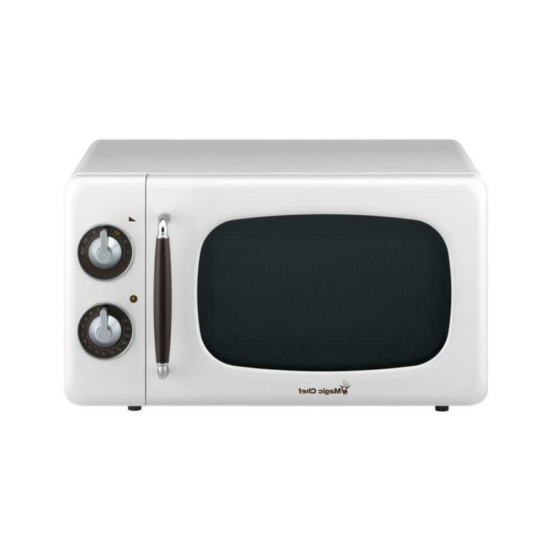magic chef retro 0 7 cu ft countertop microwave in white variable control hlpsocialsquare com
