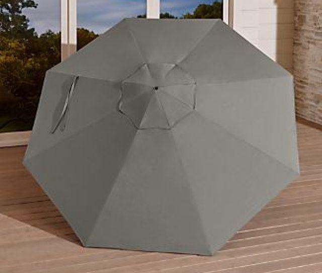 Round Sunbrella Graphite Umbrella Canopy