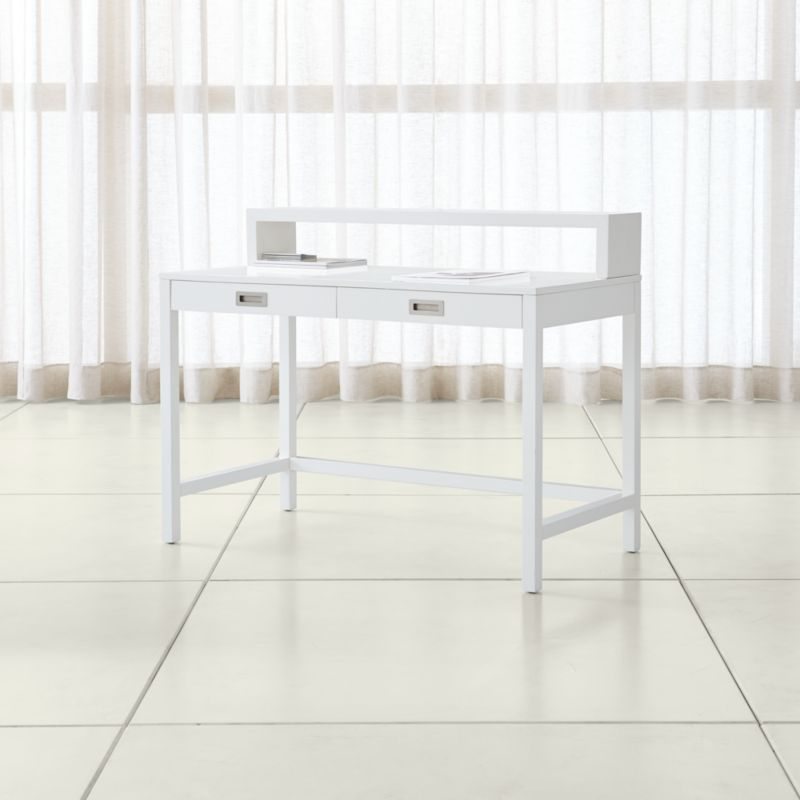 Aspect White Desk With Hutch + Reviews
