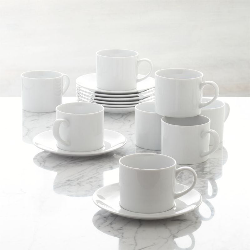 Set Of 8 Aspen Cups And Saucers Reviews Crate And Barrel