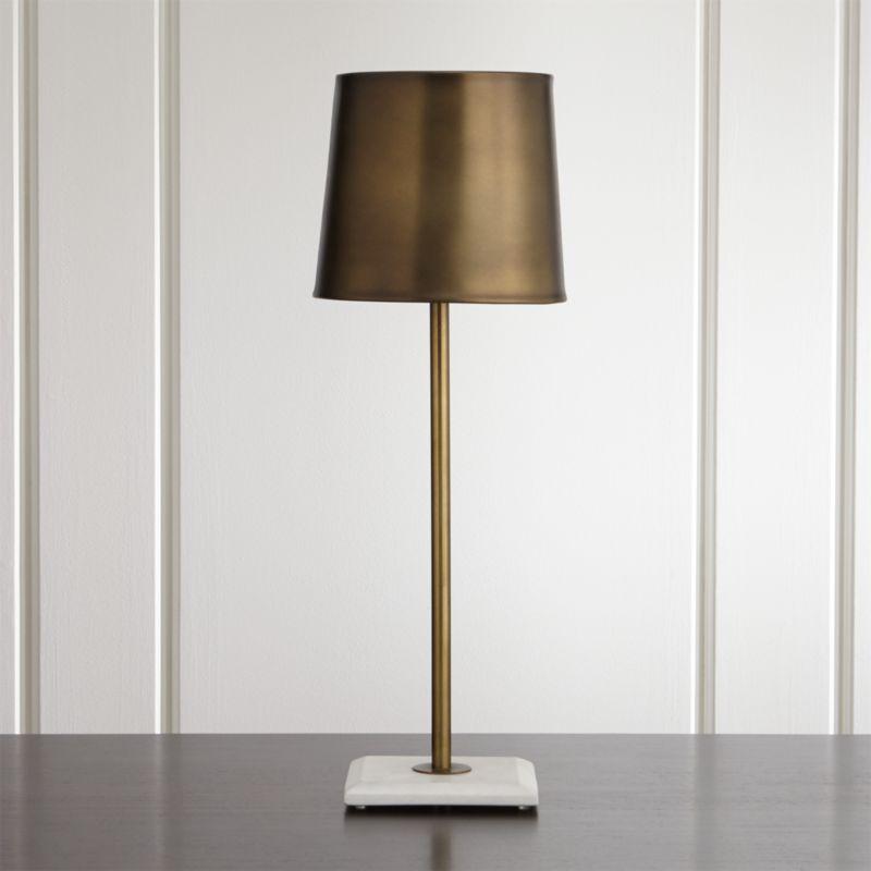 Astor Brass Buffet Lamp Crate And Barrel
