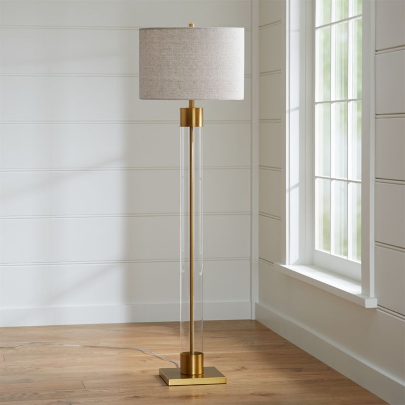 Avenue Brass Floor Lamp Reviews Crate And Barrel