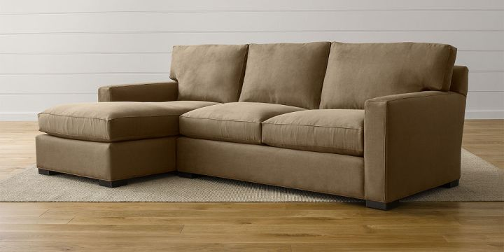 Sale  Sectional Sofas  Leather and Fabric   Crate and Barrel Axis Sectional Sofas
