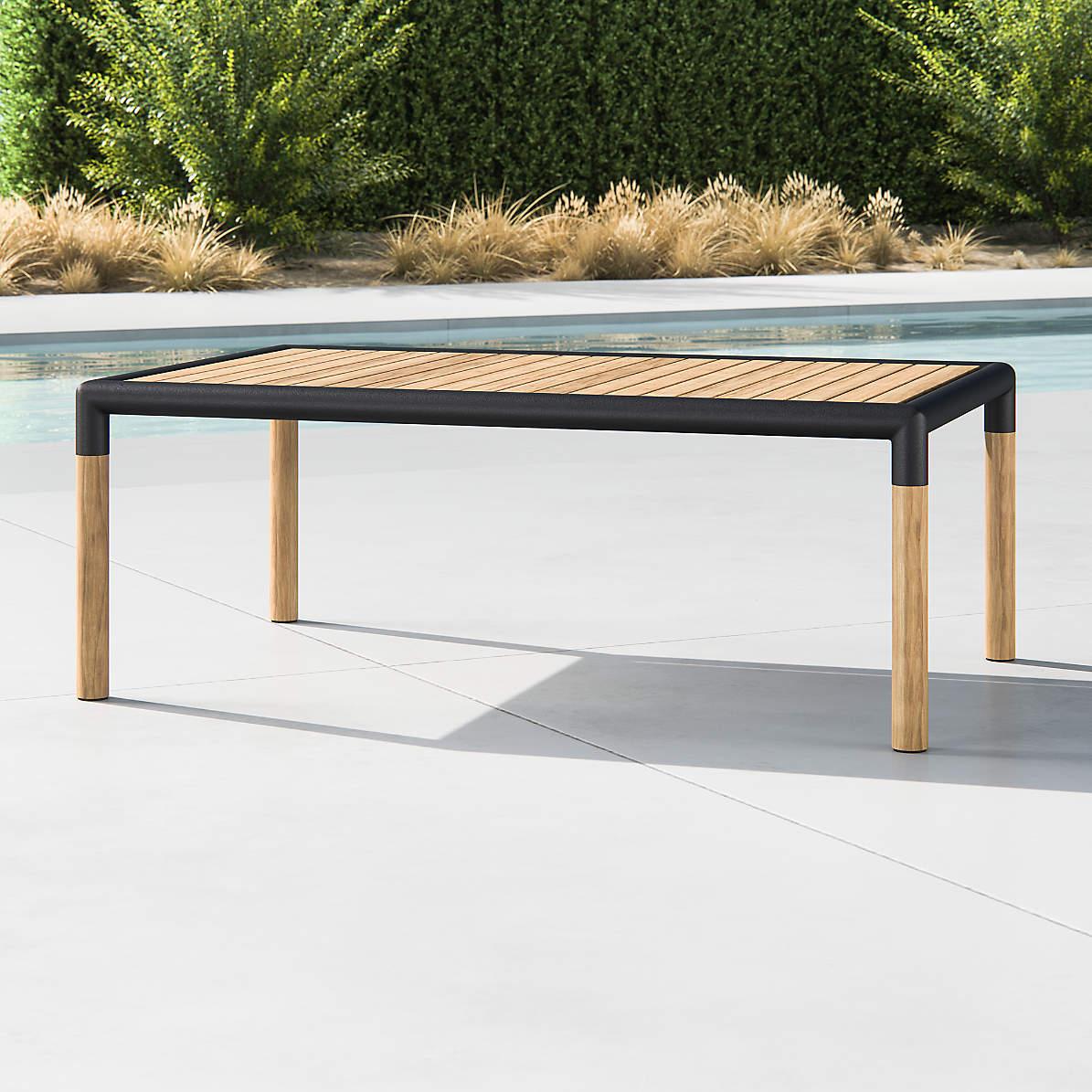 barra teak metal coffee table crate and barrel
