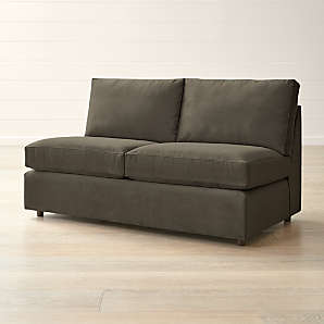 armless loveseats crate and barrel