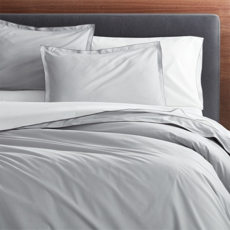 Belo Grey FullQueen Duvet Cover Reviews Crate And Barrel