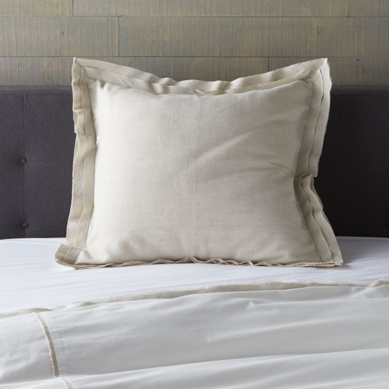 Bianca White Natural Euro Sham Crate And Barrel