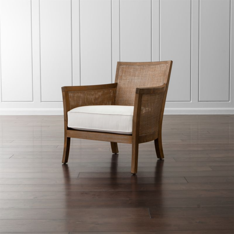 Blake Rattan White Cushioned Chair Reviews Crate And