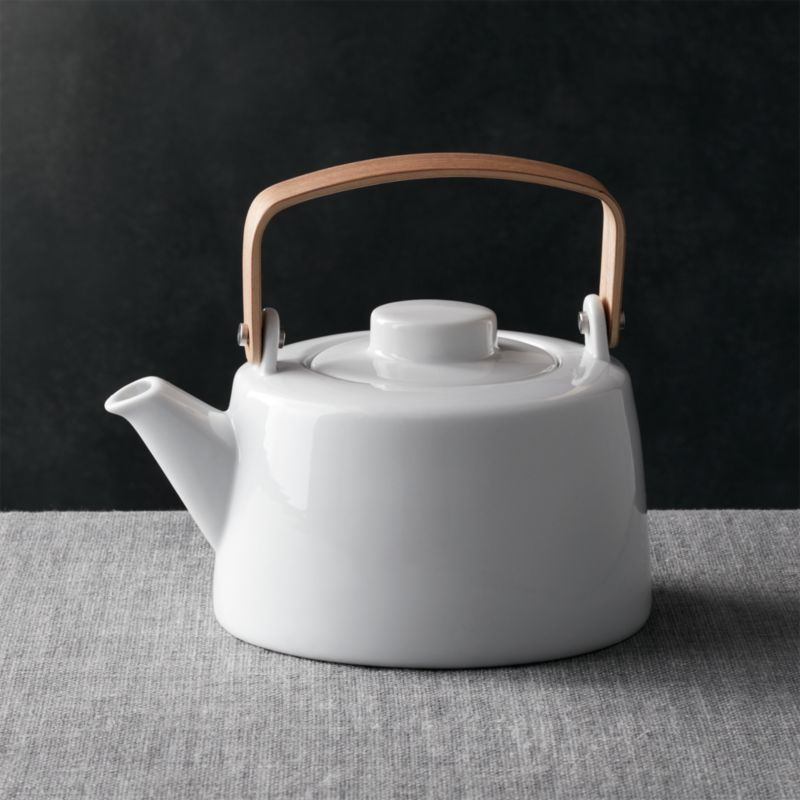 Teapot With Wooden Handle Crate And Barrel