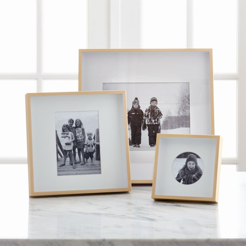 Brushed Brass Picture Frames Crate And Barrel