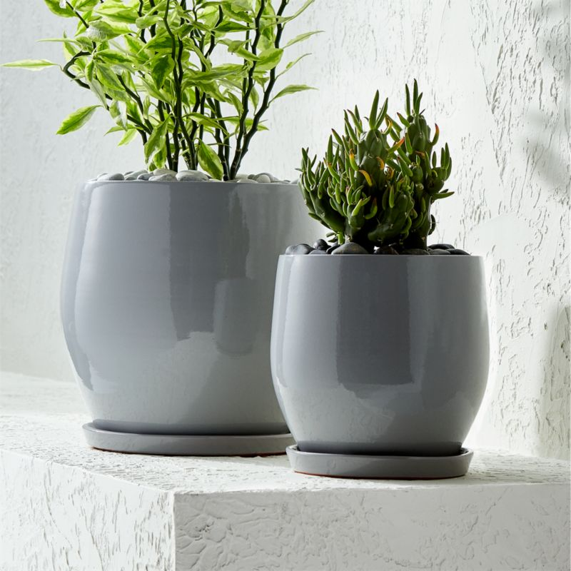 Campana Grey Planters Crate And Barrel