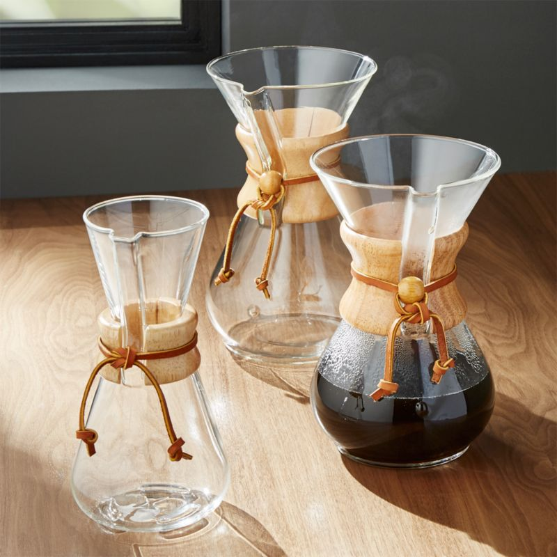 Chemex Coffee Makers With Wood Collar Crate And Barrel