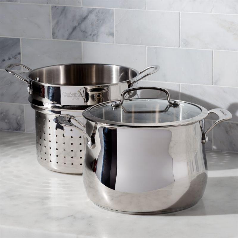 Cuisinart 6 Qt 3 Pc Pasta Pot With Strainer Reviews