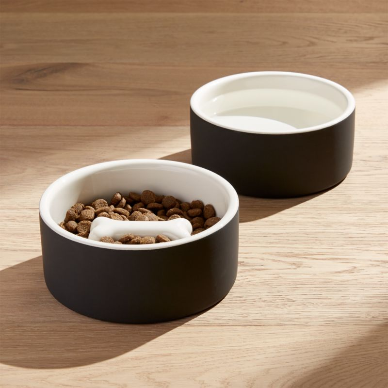 Magisso Medium Dog Food And Water Bowls Crate And Barrel