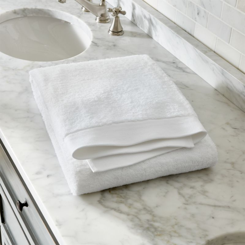 Egyptian Cotton White Bath Towel Crate And Barrel
