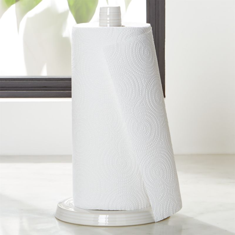 Farmhouse White Paper Towel Holder Reviews Crate And