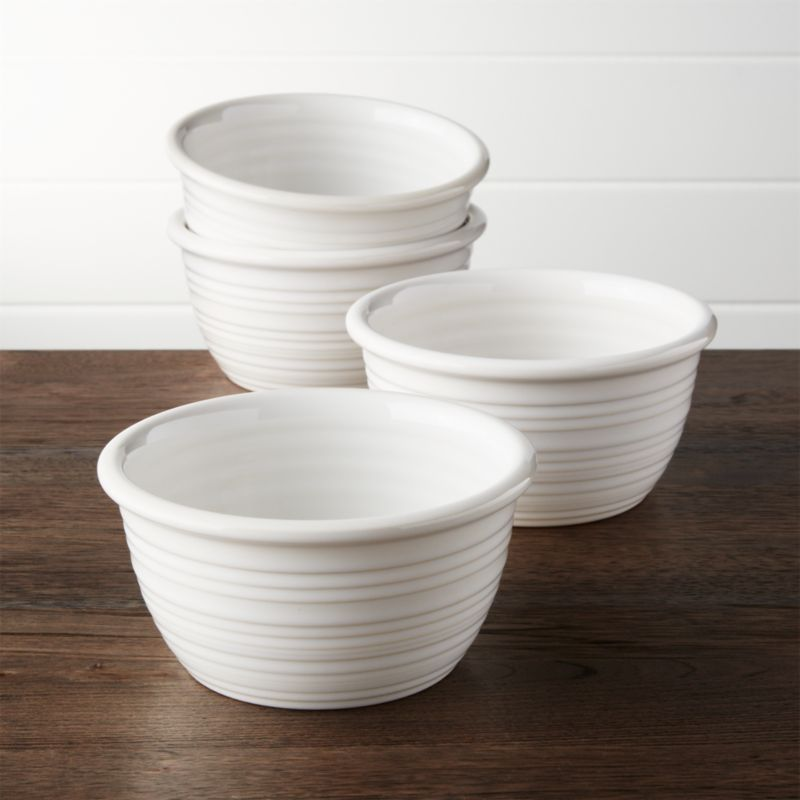 Farmhouse White Cereal Bowls Set Of 4 Reviews Crate