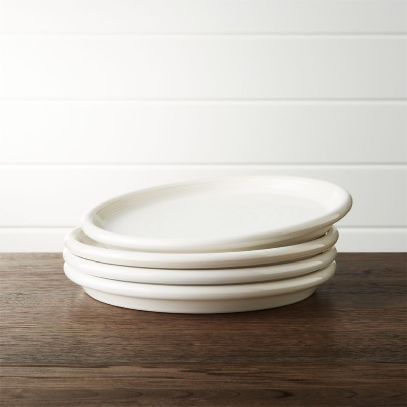 Set Of 4 Farmhouse White Salad Plates Reviews Crate