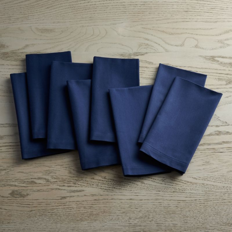 Fete Navy Blue Cloth Napkins Set Of 8 Reviews Crate And Barrel