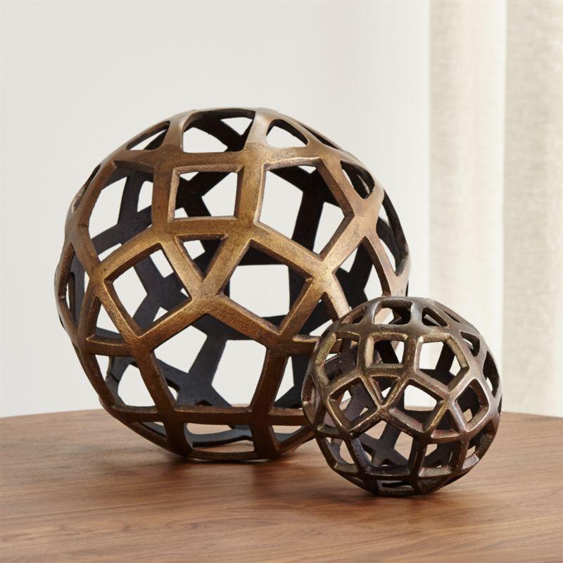 Geo Decorative Metal Balls Crate And Barrel