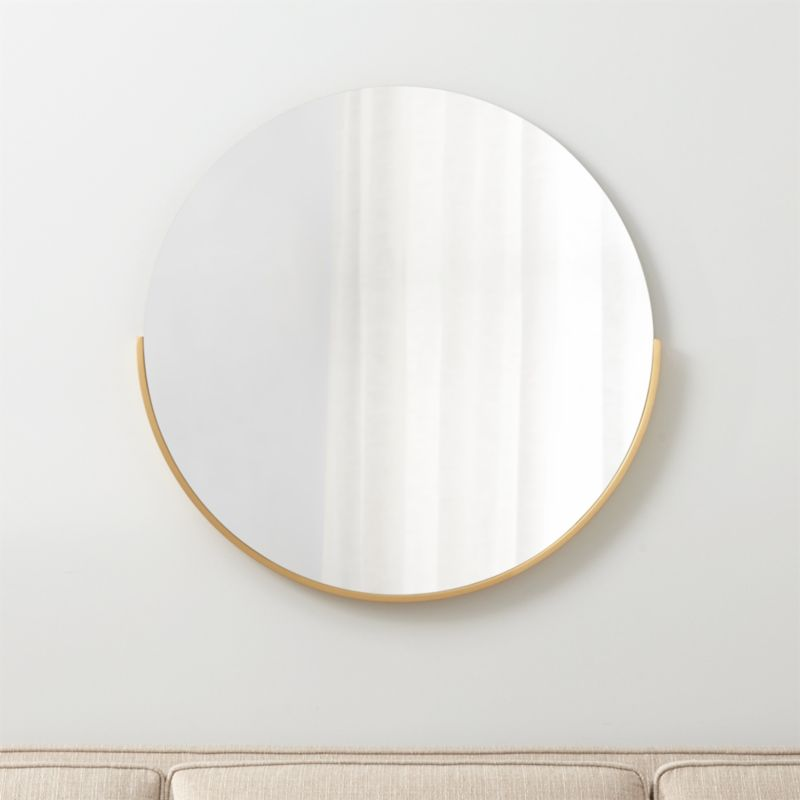 Gerald Small Round Wall Mirror Reviews Crate And Barrel