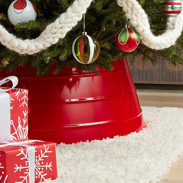 Glossy Red Tree Collar Crate And Barrel