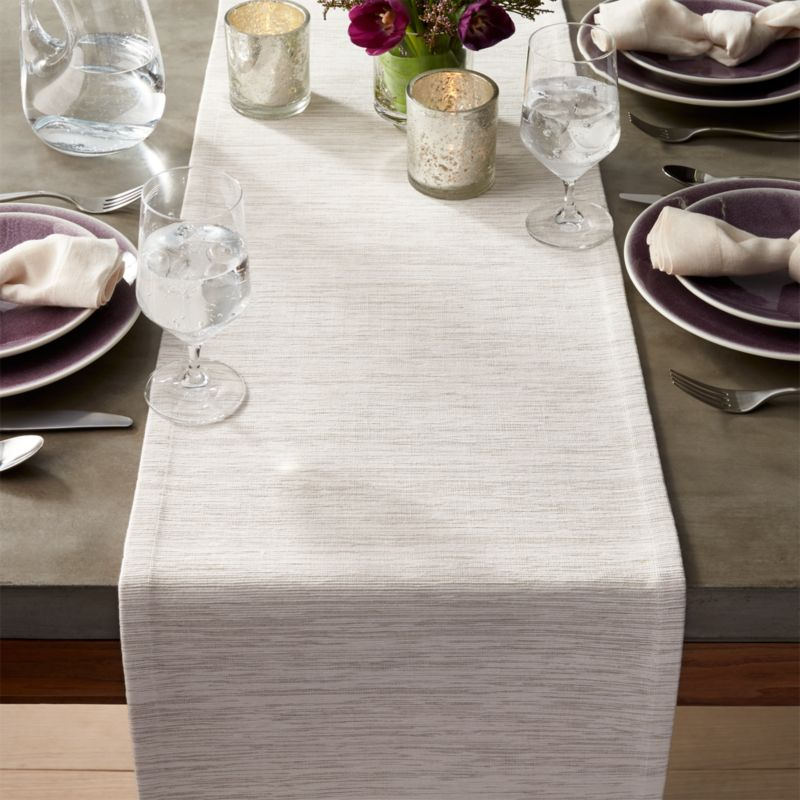 Grasscloth 90 White Table Runner Reviews Crate And Barrel