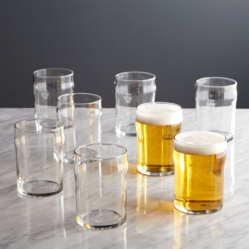 Half Pint Glass Tumblers With Crown Set Of 8 Reviews