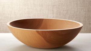 "Holland 15"" Wood Salad Bowl Reviews Crate And Barrel"
