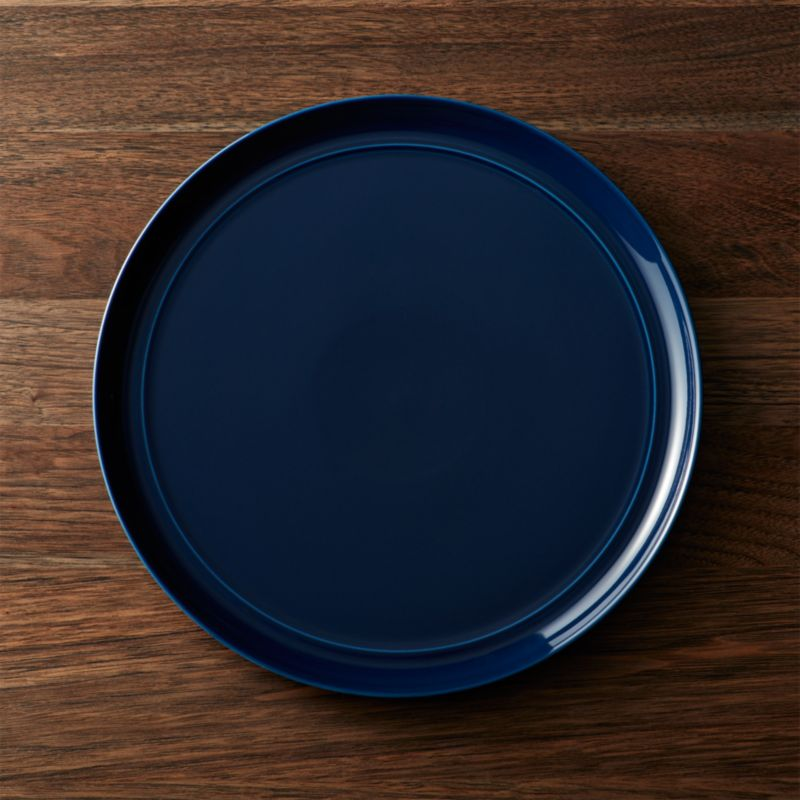 Hue Navy Blue Dinner Plate Reviews Crate And Barrel
