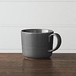 Hue Dark Grey Low Bowl Reviews Crate And Barrel