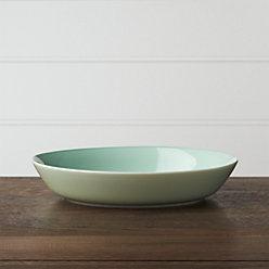 Hue Green Serving Bowl Reviews Crate And Barrel
