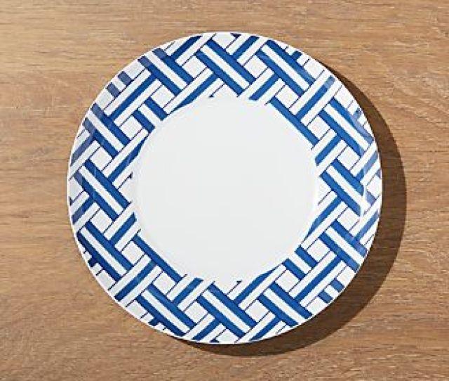 Indigo Basketweave Dessert Plate