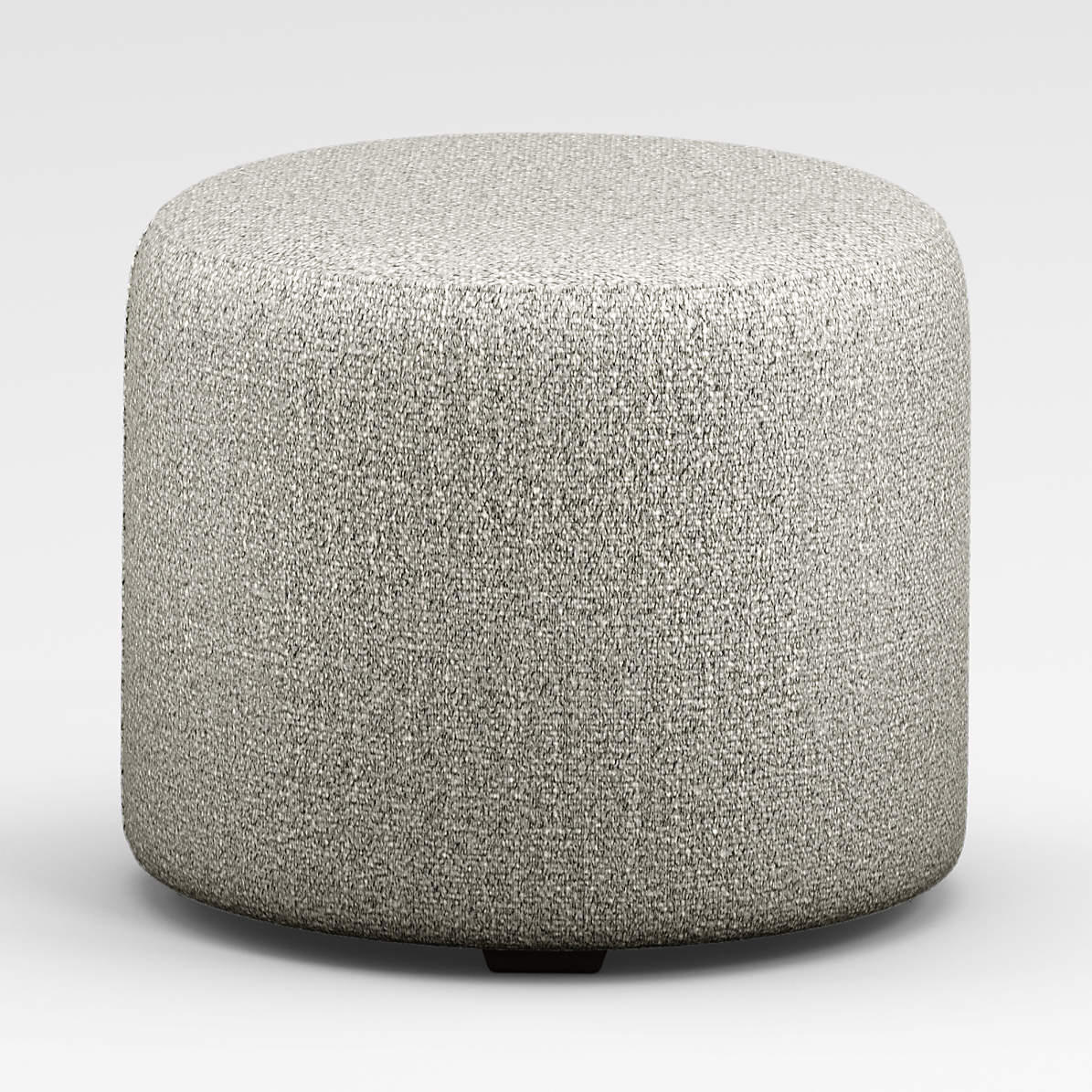 june round grey ottoman crate and barrel