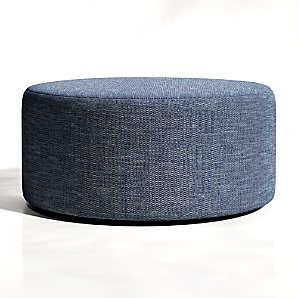 fabric ottomans crate and barrel