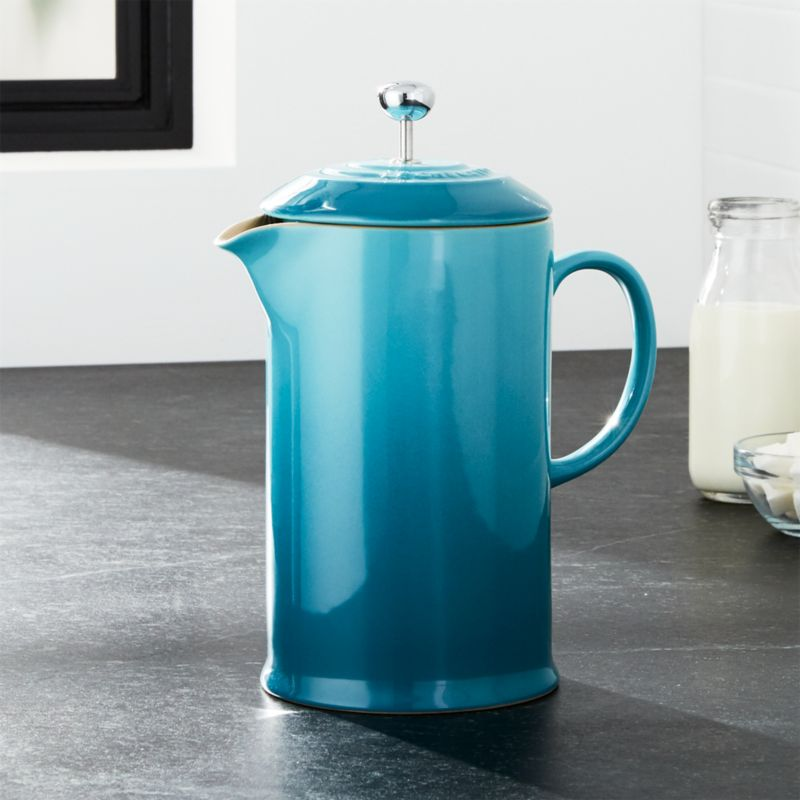 Le Creuset Caribbean French Press Reviews Crate And Barrel