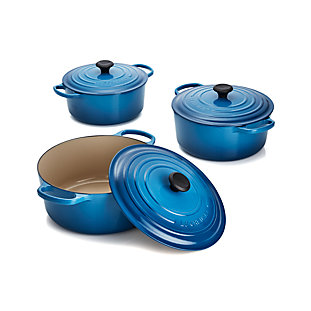 Le Creuset Heritage Covered Rectangle Marseille Blue Baking Dish Crate And Barrel