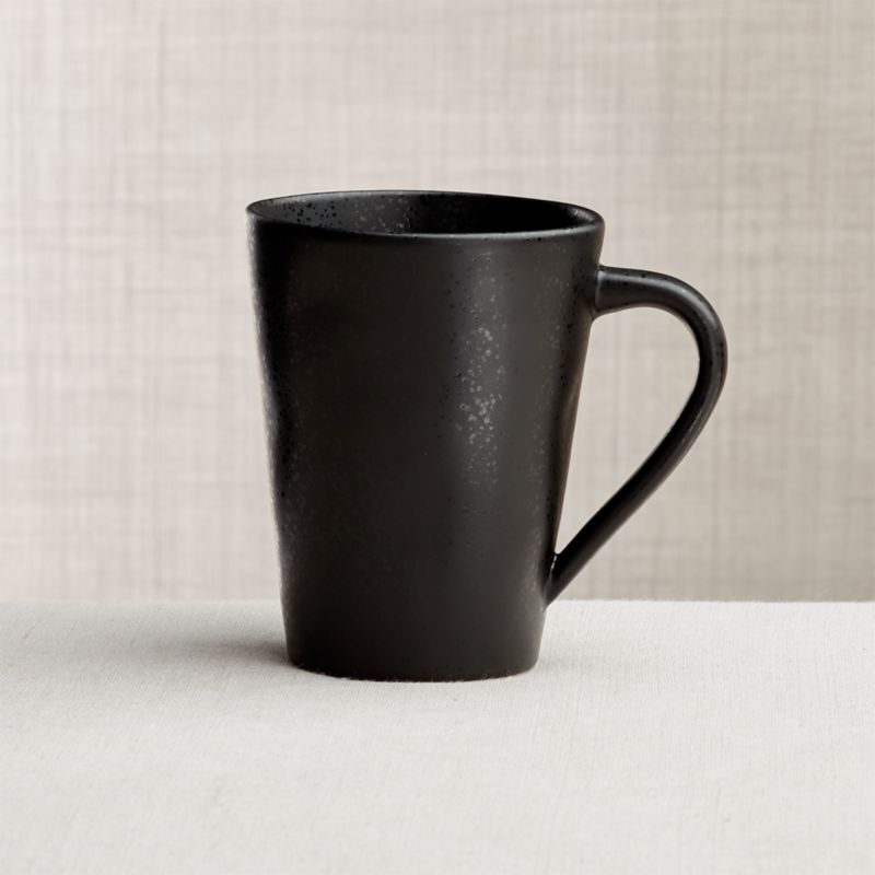 Marin Matte Black Mug Reviews Crate And Barrel