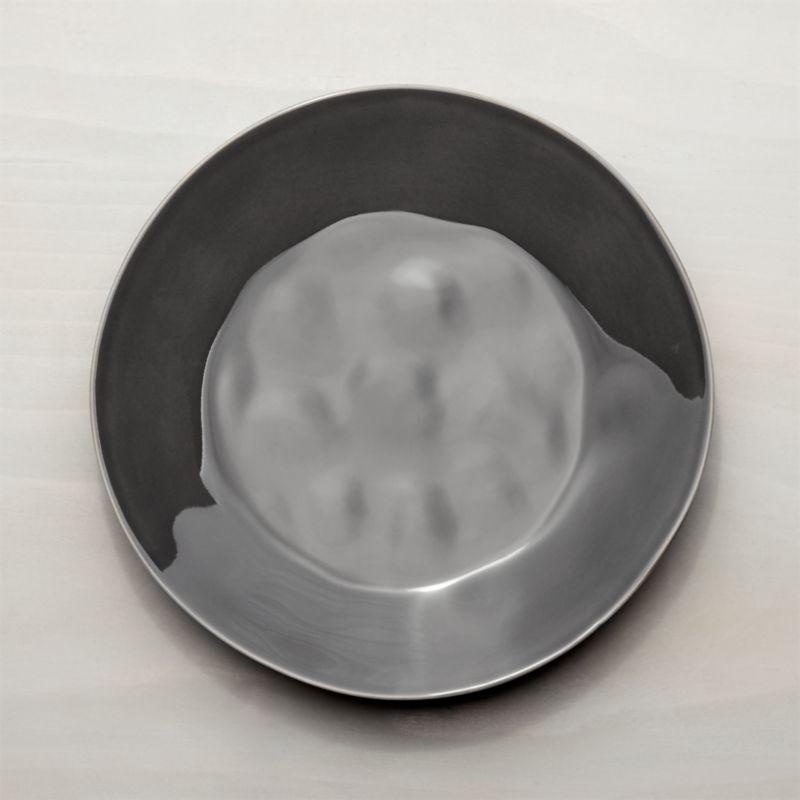 Marin Dark Grey Dinner Plate Reviews Crate And Barrel