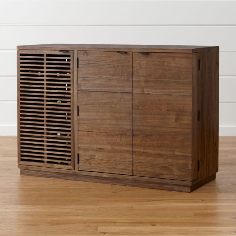 Marin Shiitake Large BarMedia Cabinet Reviews Crate