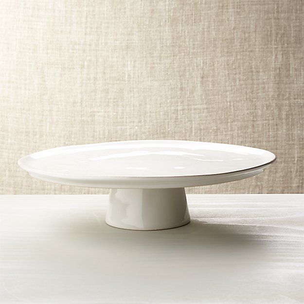 Marin White Cake Stand Crate And Barrel