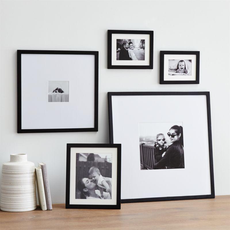 5 Piece Matte Black Picture Frame Set Reviews Crate