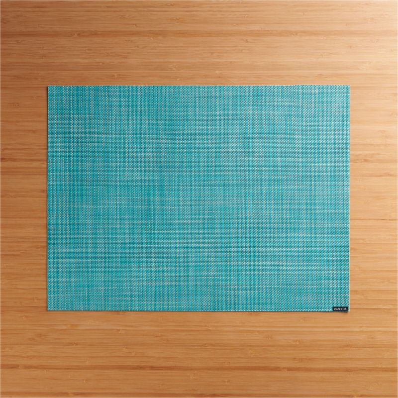 Chilewich Mini Basketweave Turquoise Vinyl Placemat