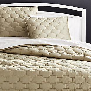 Brice Natural Patterned Duvet Covers And Pillow Shams Crate And Barrel