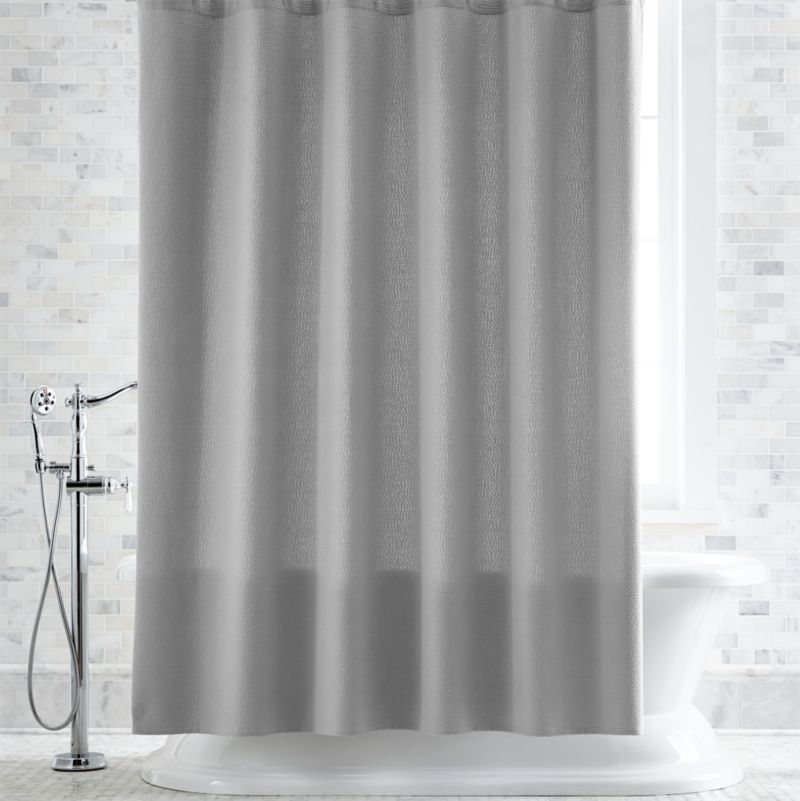 Pebble Matelass Grey Shower Curtain Reviews Crate And