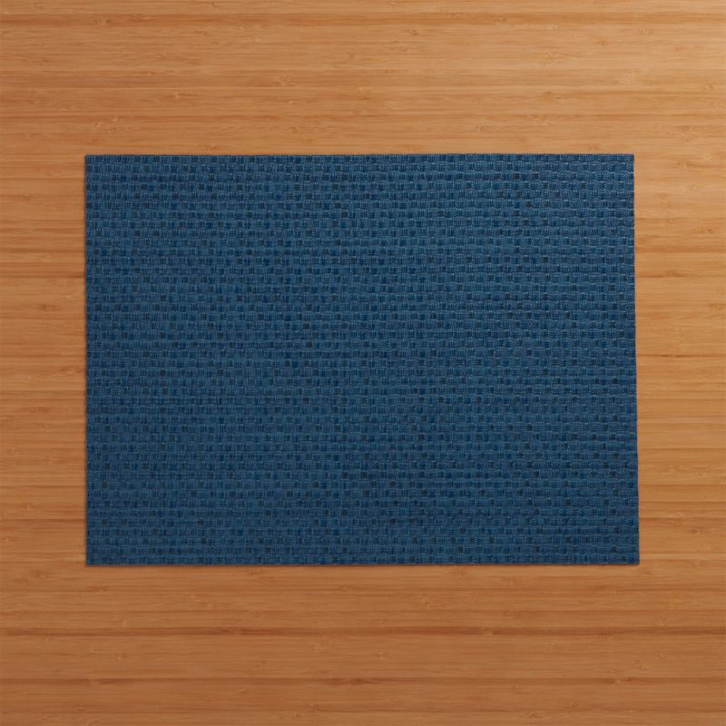 Chilewich Purl Blue Vinyl Placemat Reviews Crate And Barrel