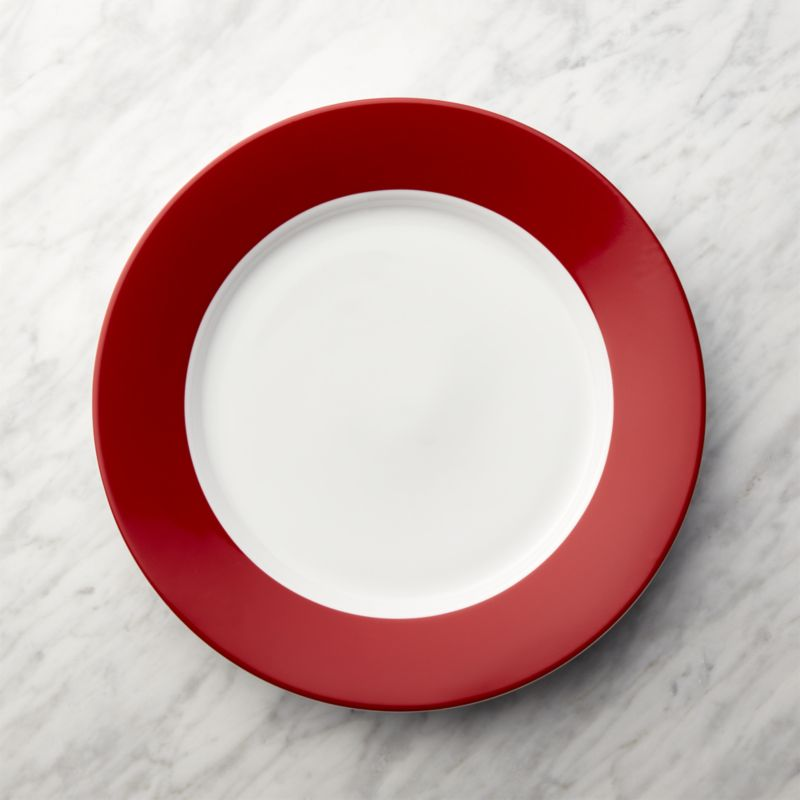 Red Rim Buffet Plate Reviews Crate And Barrel